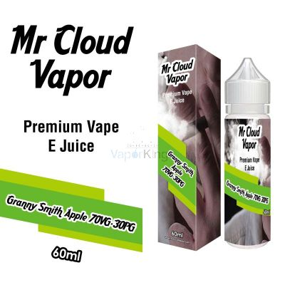Granny Smith Apple Eliquid Nic MR CLOUD VAPOR